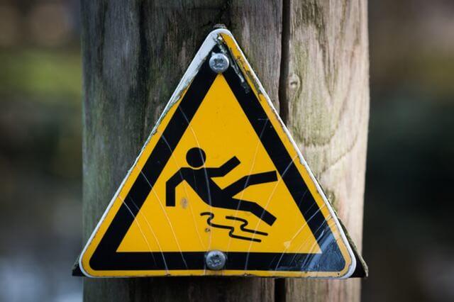 סימן של זהירות החלקה
